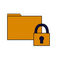 folder file data security vector image vector image