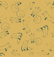 fox lines seamless repeat pattern design vector image vector image