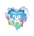 happy easter greeting card template vector image vector image