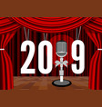happy new year 2019 on background stage vector image