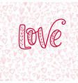 happy valentine s day hand drawn calligraphy vector image vector image