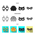 hero and mask sign vector image
