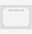 Horizontal certificate template vector image vector image