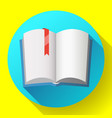 icon open textbook with red bookmark vector image vector image