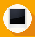 icon photo frames on white circle with a long vector image vector image