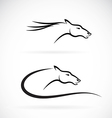 images of horse head design vector image vector image