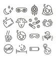 insomnia icon set vector image vector image