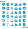 internet security blue icons set style vector image