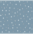 isolated seamless new year festive pattern vector image