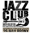 jazz club concert music poster design tee graphic vector image vector image