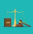 judge wooden gavel vector image vector image