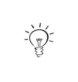 light bulb idea logotype vector image