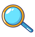 magnifier icon cartoon style vector image vector image