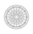 mandala christmas star for coloring vector image vector image