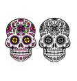 mexican sugar skull dia de los muertos skull vector image vector image