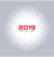 new year 2019 card christmas gray circle frame vector image vector image