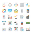 pack of finance and accounting flat icons vector image