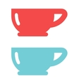 Red cup coffee tea or drink cafe morning beverage vector image vector image
