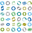 Reload icons isolated on white background set loop vector image vector image