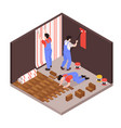 repair renovation isometric composition vector image vector image