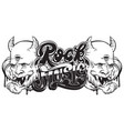 rock music handwritten lettering template for vector image
