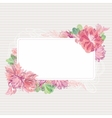 Romantic Card Template with Floral Border vector image vector image