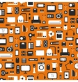 Seamless pattern of electronic devices and home vector image