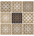 seamless vintage backgrounds set brown baroque wal vector image vector image