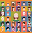 set of different avatars vector image vector image