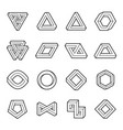 set of impossible shapes web design elements vector image vector image
