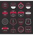 Set Retro Skateboarding Logo and Badge vector image vector image