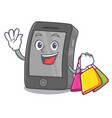 shopping ipad isolated with in character vector image