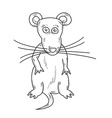 sketch of the mouse vector image vector image