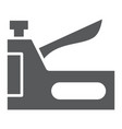 staple gun glyph icon tool and repair vector image vector image