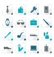 stylized man accessories icons and objects vector image vector image