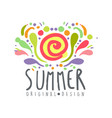 summer colorful logo template original design vector image vector image