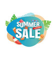 summer sale banner paper cut template blue vector image vector image