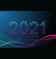 text design christmas and happy new year 2021 vector image