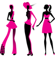 Three fashion girls vector image vector image