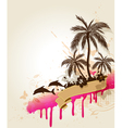 tropic background vector image vector image