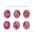 watercolor labels vector image vector image