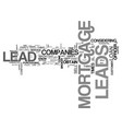 where mortgage leads come from text word cloud vector image vector image