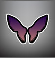 wings sign violet gradient vector image vector image