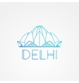 World famous Lotus Temple Greatest Landmarks of vector image vector image