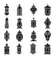 ramadan lamp set vector image