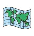 globe map location atlas vector image
