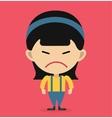 Little cartoon angry girl vector image