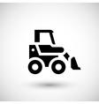 Mini earth mover icon vector image