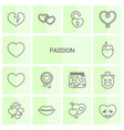 14 passion icons vector image vector image