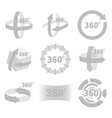 360 degrees view sign isolated vector image vector image